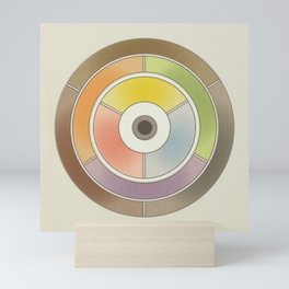 The theory of colouring - Diagram of colour by J. Bacon, 1866, Remake, vintage wash (no text) Mini Art Print