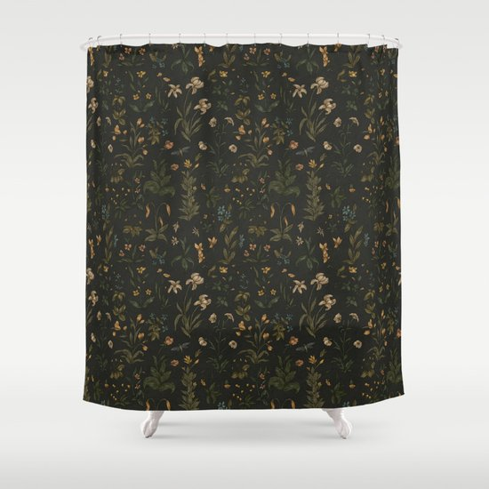 Old world florals shower curtain by jessica roux society6 for Old world curtains and drapes