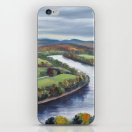 View of the Connecticut River from Mount Sugarloaf iPhone Skin