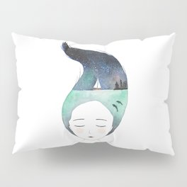 Dreaming about traveling the world Pillow Sham