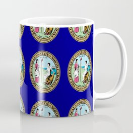 seal of north carolina-america,usa,Old North State,Tar Heel, North Carolinian,Charlotte,Raleigh, Coffee Mug