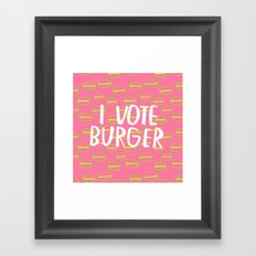 I Vote Burger Framed Art Print