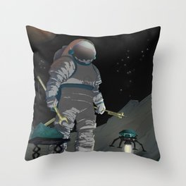 Recruitment Poster / Work The-Night Shift NASA Recruitment Poster Throw Pillow