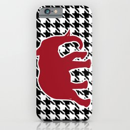 Houndstooth and Elephant iPhone Case
