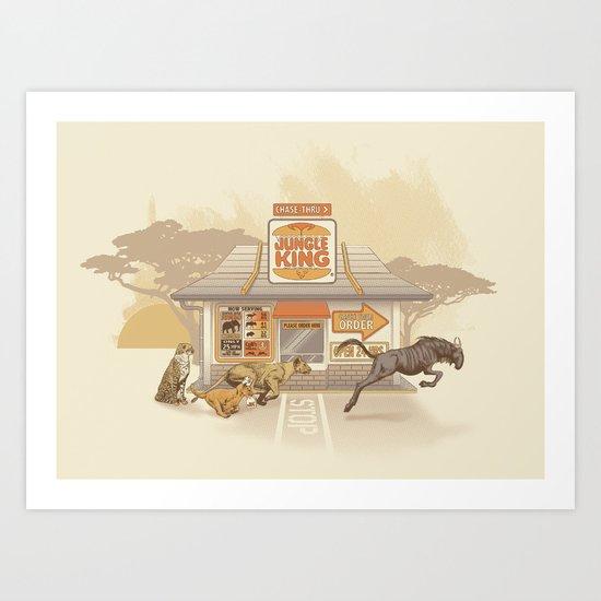 Fast Food (Jungle King) Art Print