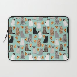 Cats with Pizza slices cheesy food funny cat lover gifts by pet friendly pet portraits Laptop Sleeve