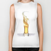 beer Biker Tanks featuring Beer by Giorgio Arcuri