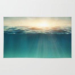 Breeze of the blue ocean Rug