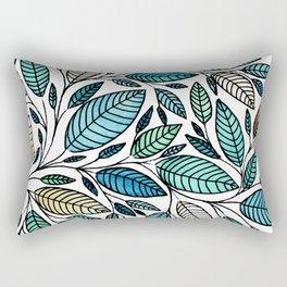 Leaf Illustration - Blue Green - P07 010 Rectangular Pillow