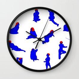 HanGyeol Drawing_Blue Woman Wall Clock