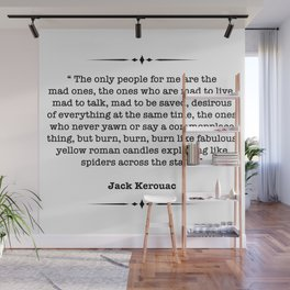 Jack Kerouac Quote Wall Mural