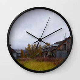 Abandoned Orphanage in Northwest Alaska Wall Clock