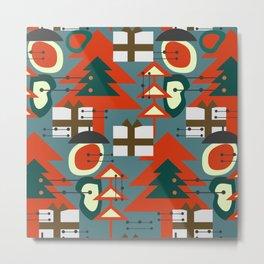 Mid Century Modern Christmas Metal Print