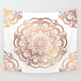 Mandala Rose-Gold Shine Wall Tapestry