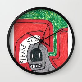 PLZ STOP Wall Clock