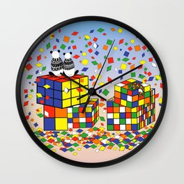 Rubix Panda Wall Clock