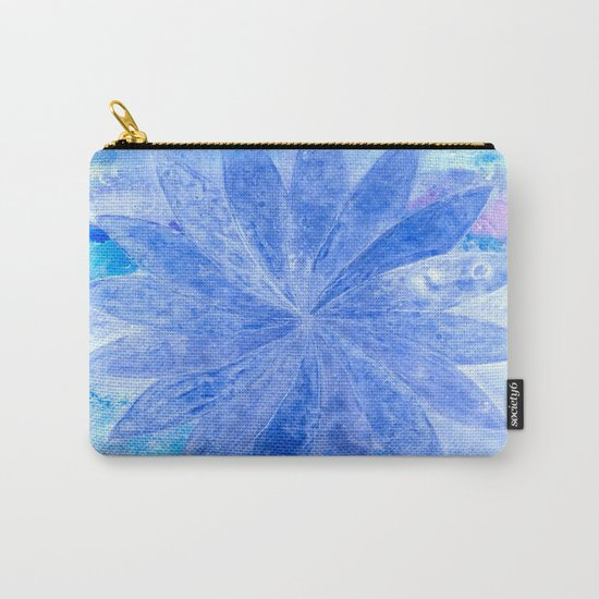 ABSTRACT BLUE DAISY Carry-All Pouch