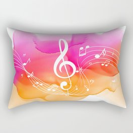 Watercolor, Musical Notes, watercolor t-shirt, watercolor sticker Rectangular Pillow