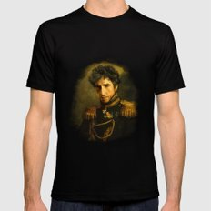 Bob Dylan - replaceface LARGE Black Mens Fitted Tee