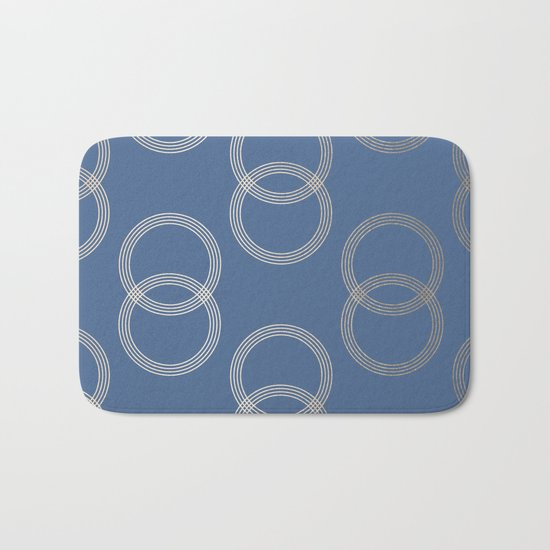 Simply Infinity Link in White Gold Sands on Aegean Blue Bath Mat
