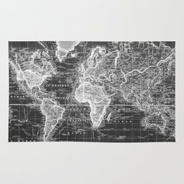 World map rugs society6 vintage map of the world 1833 black white rug gumiabroncs Images