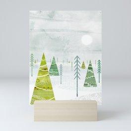 Christmas Forest Mini Art Print