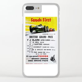 British Grand Prix, Silverstone, 1965, Vintage Poster, car poster Clear iPhone Case