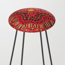 Doodle 16 Red Counter Stool