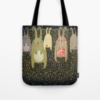 bunnies Tote Bags featuring Bunnies by Florence Weiser