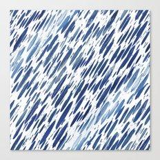 Boho Blue Brushstroke Canvas Print