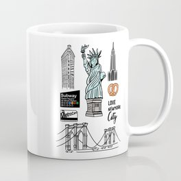 New York City Doodle Coffee Mug
