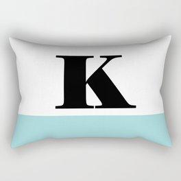 Monogram Letter K-Pantone-Limpet Shell Rectangular Pillow