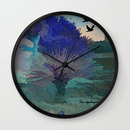 TheDesert blue -By Sherri Of Palm Springs Wall Clock