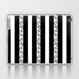 Stripes and Thorny Vines by Dark Decors - Black and Whites Laptop & iPad Skin