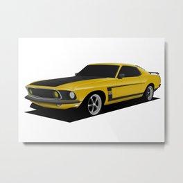 Mustang Boss Metal Print