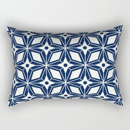 Starburst - Navy Rectangular Pillow