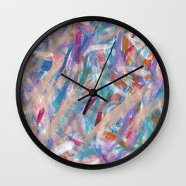 Painterly Color Expression Wall Clock