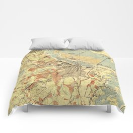 Vintage Map of Savannah Georgia (1942) Comforters