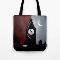 peter pan Tote Bags featuring Peter Pan by Rowan Stocks-Moore