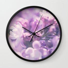 Lilac Love Wall Clock