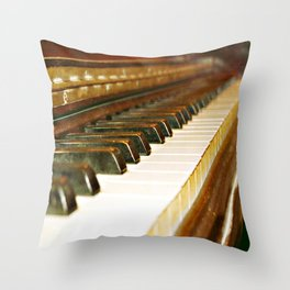 That Old Piano  Throw Pillow