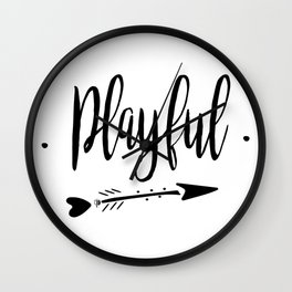 Playful Lettering-PM coll Wall Clock