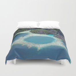 the blue hole in coron Philippines Duvet Cover