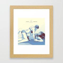 deanna x samantha (supernatural) Framed Art Print