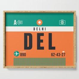 Baggage Tag A - DEL Delhi India Serving Tray