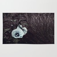 hibiscus Area & Throw Rugs featuring Hibiscus by KunstFabrik_StaticMovement Manu Jobst