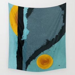 Turquoise Twelve Wall Tapestry