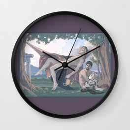 Dionysus and Satyr Wall Clock