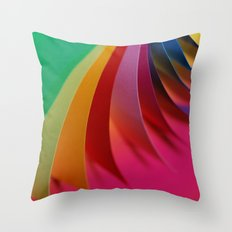 Colorful Paper Throw Pillow