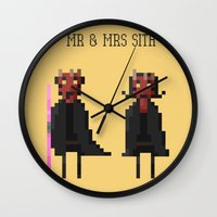 sith Wall Clocks featuring Mr & Mrs Sith by Simon Alenius